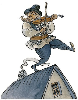 """Fiddler on the roof"" (WikipediaCommons)."